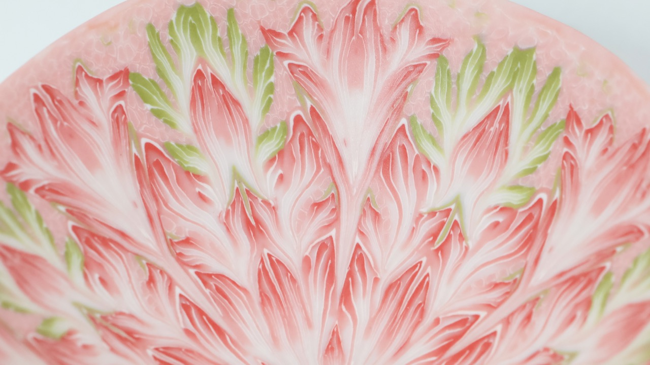 FeiblemanD_Bowl_Pink_and_Green_Detail-1