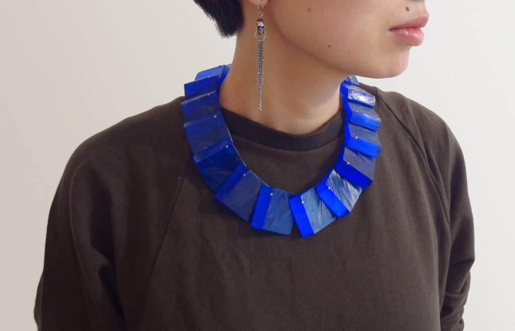 ShimizuY_Blue3DSquares_Necklace_Worn.JPG