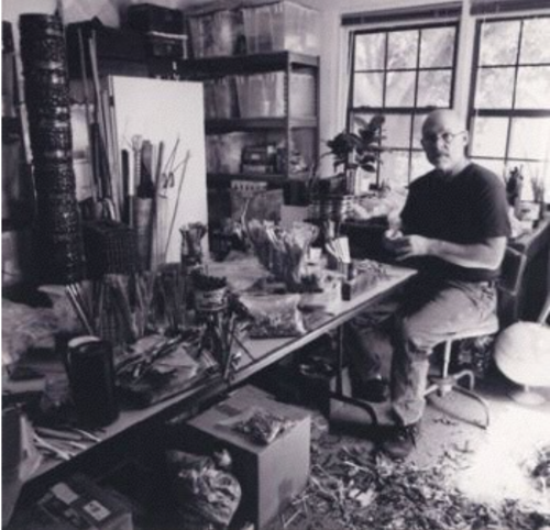 John Garrett in his studio