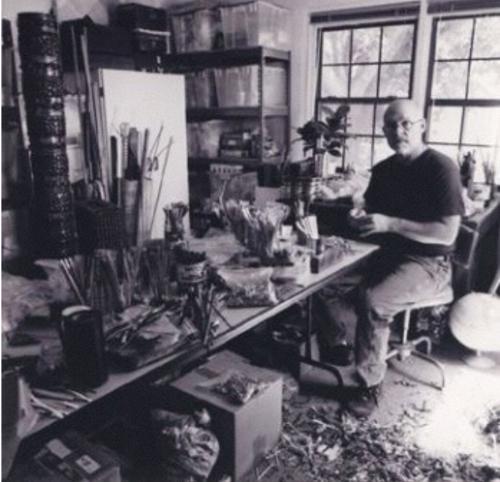 John Garrett in his studio
